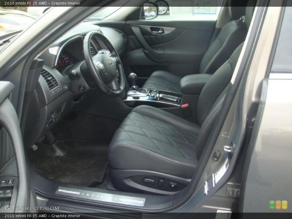 Graphite Interior Photo for the 2010 Infiniti FX 35 AWD #45829145