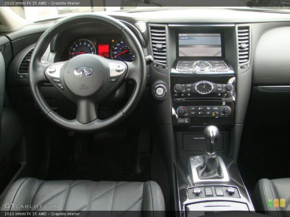 Graphite Interior Dashboard for the 2010 Infiniti FX 35 AWD #45829205