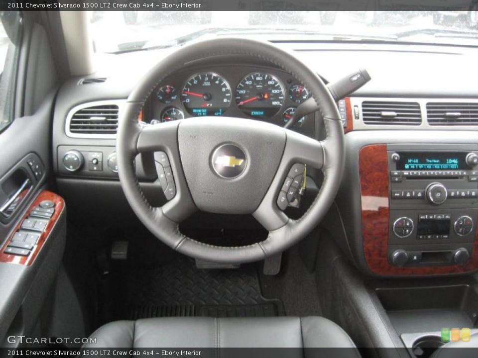 Ebony Interior Dashboard for the 2011 Chevrolet Silverado 1500 LTZ Crew Cab 4x4 #45894954