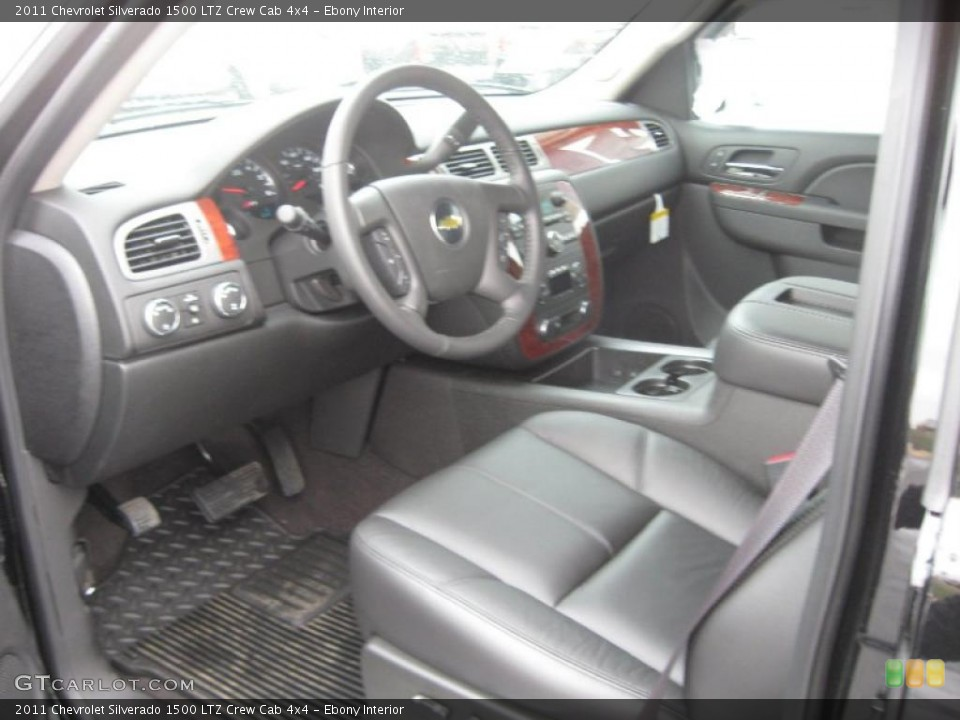 Ebony Interior Photo for the 2011 Chevrolet Silverado 1500 LTZ Crew Cab 4x4 #45894966