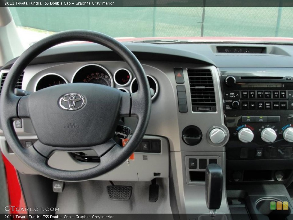Graphite Gray Interior Controls for the 2011 Toyota Tundra TSS Double Cab #45924355