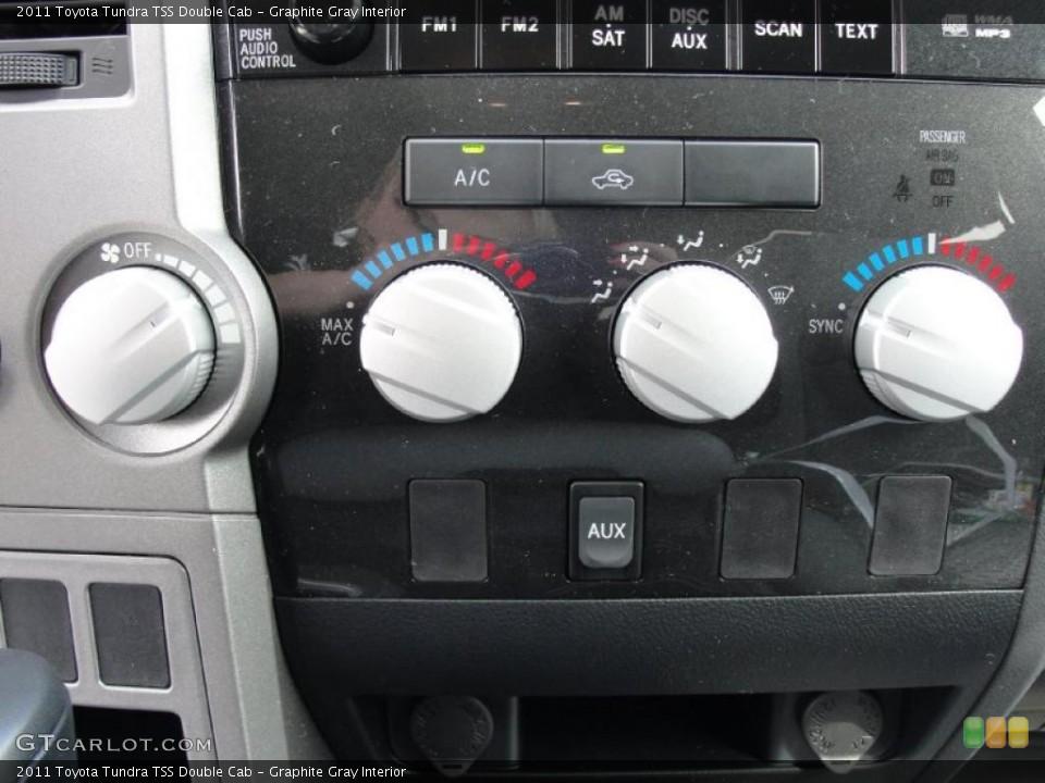 Graphite Gray Interior Controls for the 2011 Toyota Tundra TSS Double Cab #45924367