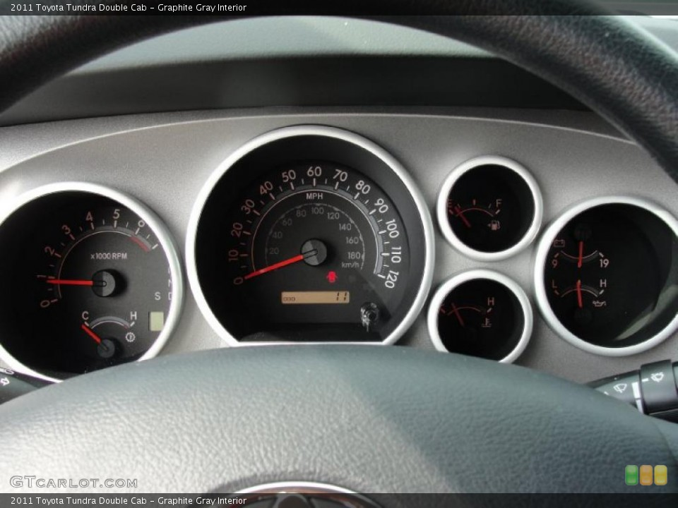 Graphite Gray Interior Gauges for the 2011 Toyota Tundra Double Cab #46009379