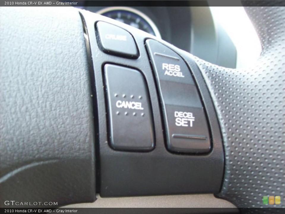 Gray Interior Controls for the 2010 Honda CR-V EX AWD #46015594