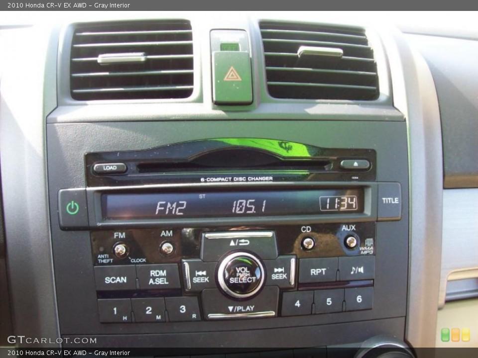 Gray Interior Controls for the 2010 Honda CR-V EX AWD #46015639