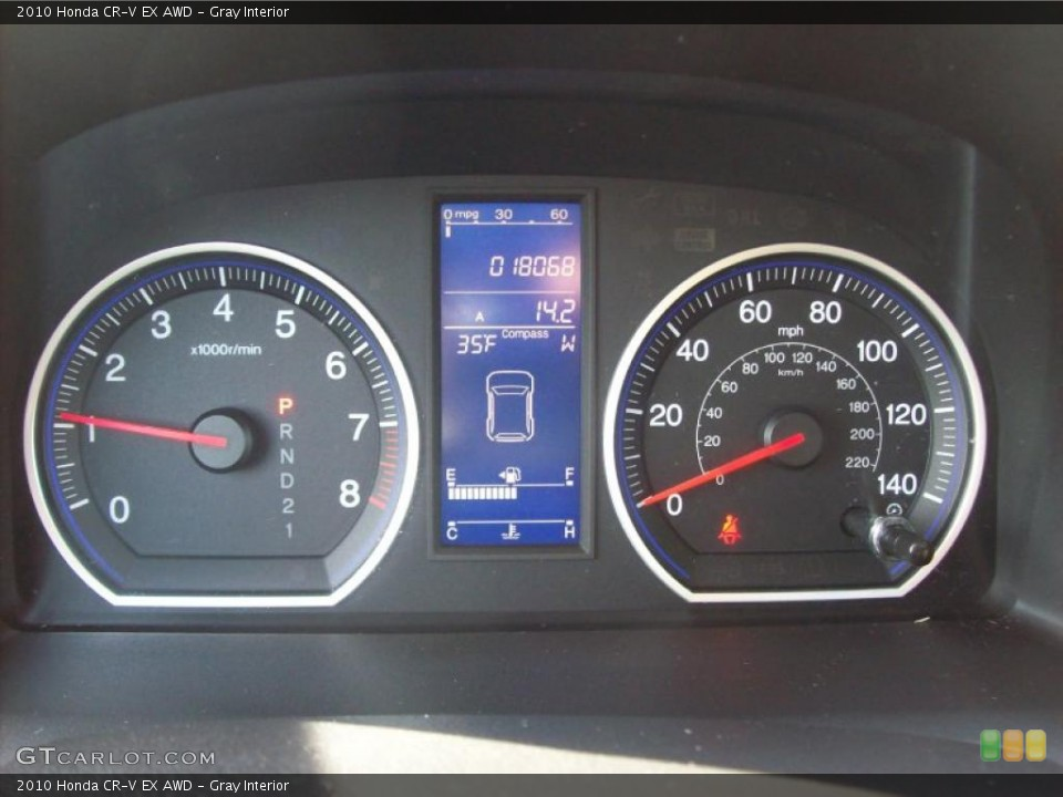 Gray Interior Gauges for the 2010 Honda CR-V EX AWD #46015648