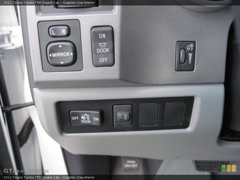 Graphite Gray Interior Controls for the 2011 Toyota Tundra TRD Double Cab #46093493