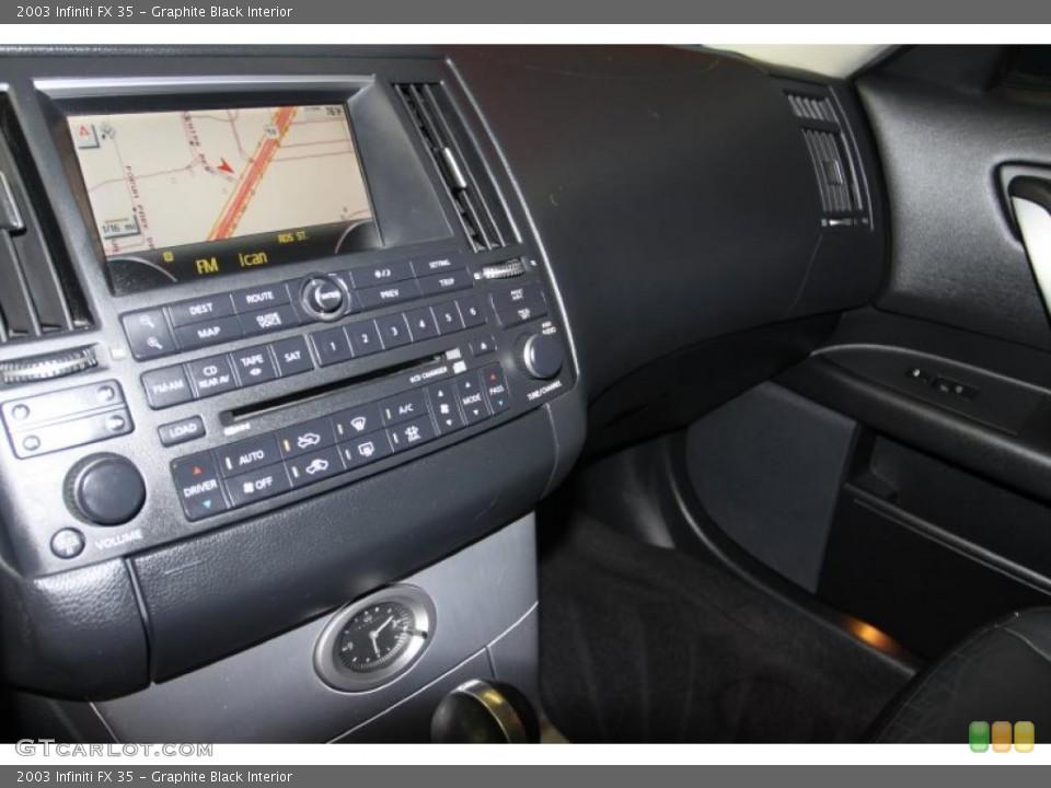 Graphite Black Interior Controls for the 2003 Infiniti FX 35 #46107734