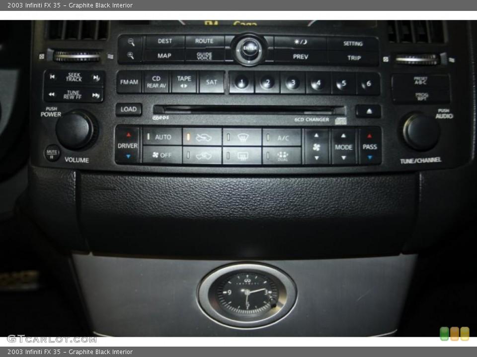 Graphite Black Interior Controls for the 2003 Infiniti FX 35 #46107764