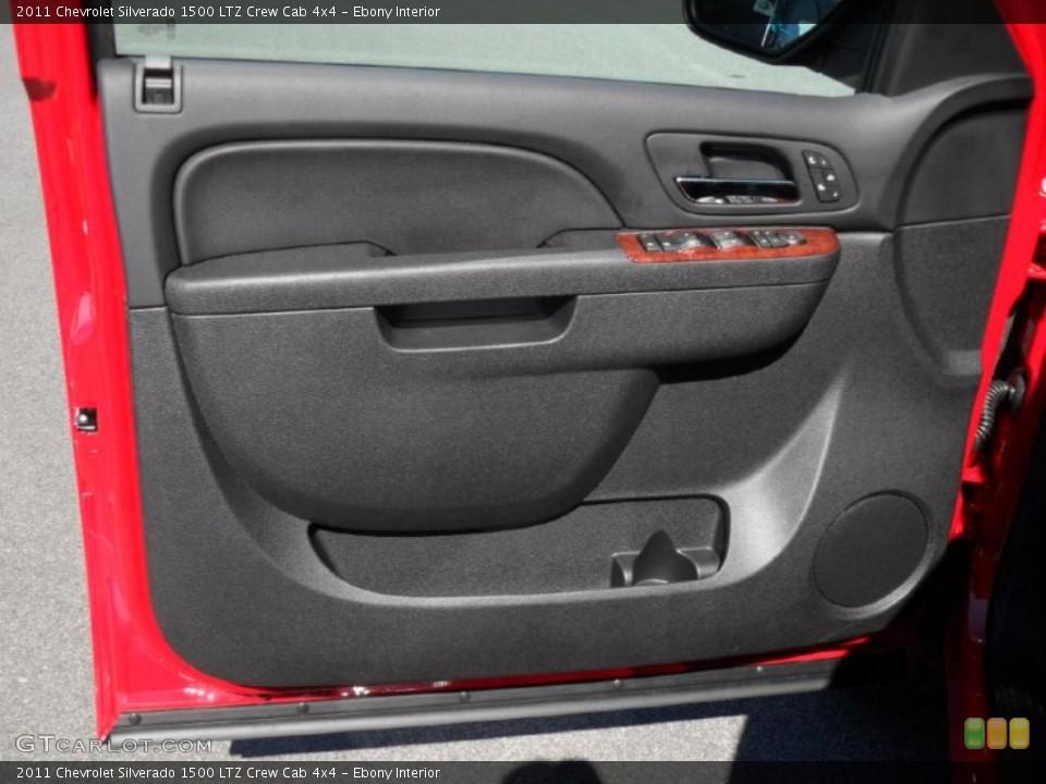Ebony Interior Door Panel for the 2011 Chevrolet Silverado 1500 LTZ Crew Cab 4x4 #46196531