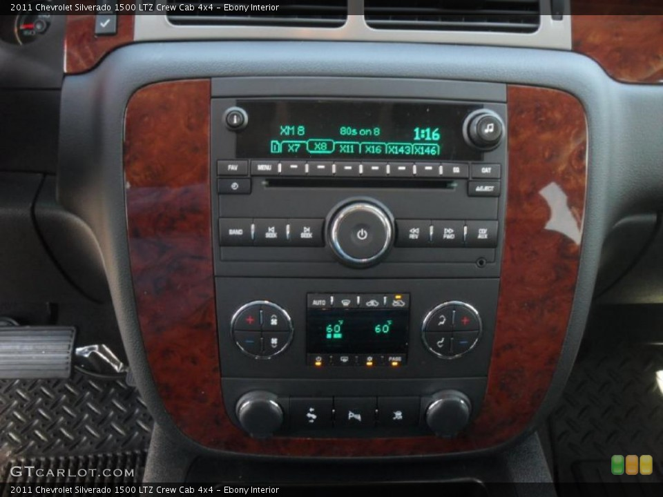Ebony Interior Controls for the 2011 Chevrolet Silverado 1500 LTZ Crew Cab 4x4 #46196549