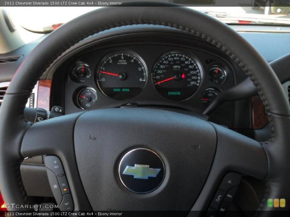 Ebony Interior Gauges for the 2011 Chevrolet Silverado 1500 LTZ Crew Cab 4x4 #46196555