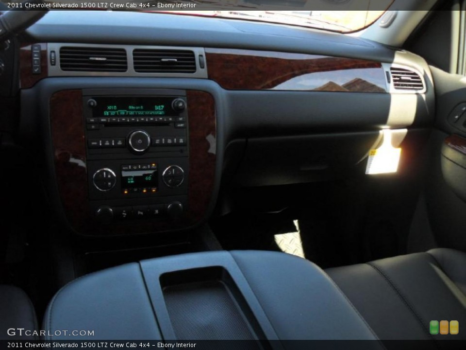 Ebony Interior Dashboard for the 2011 Chevrolet Silverado 1500 LTZ Crew Cab 4x4 #46196579