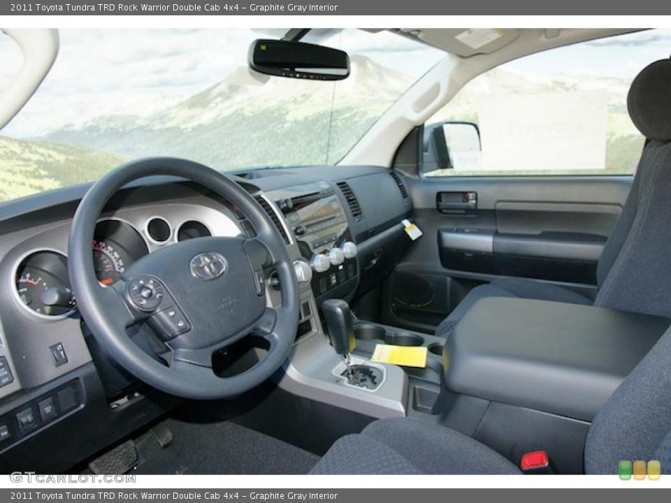 Graphite Gray Interior Photo for the 2011 Toyota Tundra TRD Rock Warrior Double Cab 4x4 #46201838