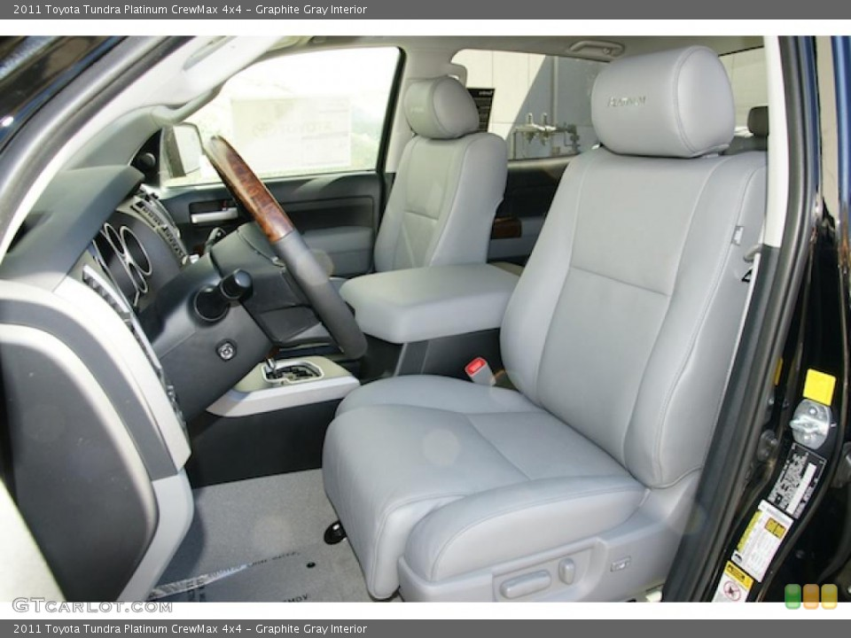 Graphite Gray Interior Photo for the 2011 Toyota Tundra Platinum CrewMax 4x4 #46201955