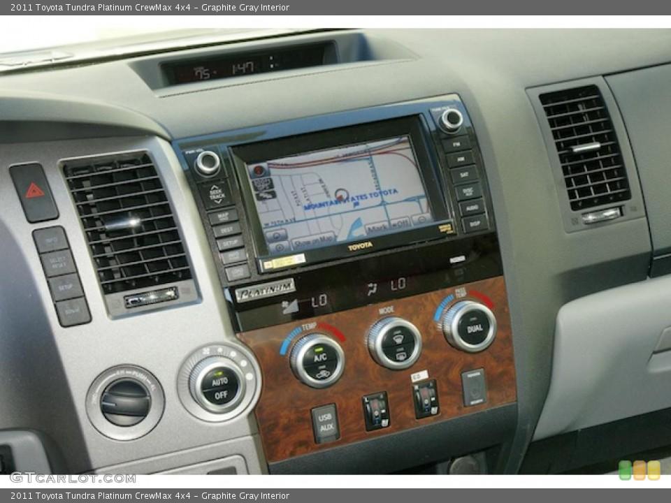 Graphite Gray Interior Navigation for the 2011 Toyota Tundra Platinum CrewMax 4x4 #46202000
