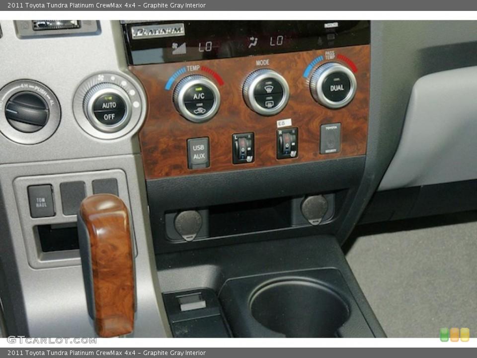 Graphite Gray Interior Controls for the 2011 Toyota Tundra Platinum CrewMax 4x4 #46202030