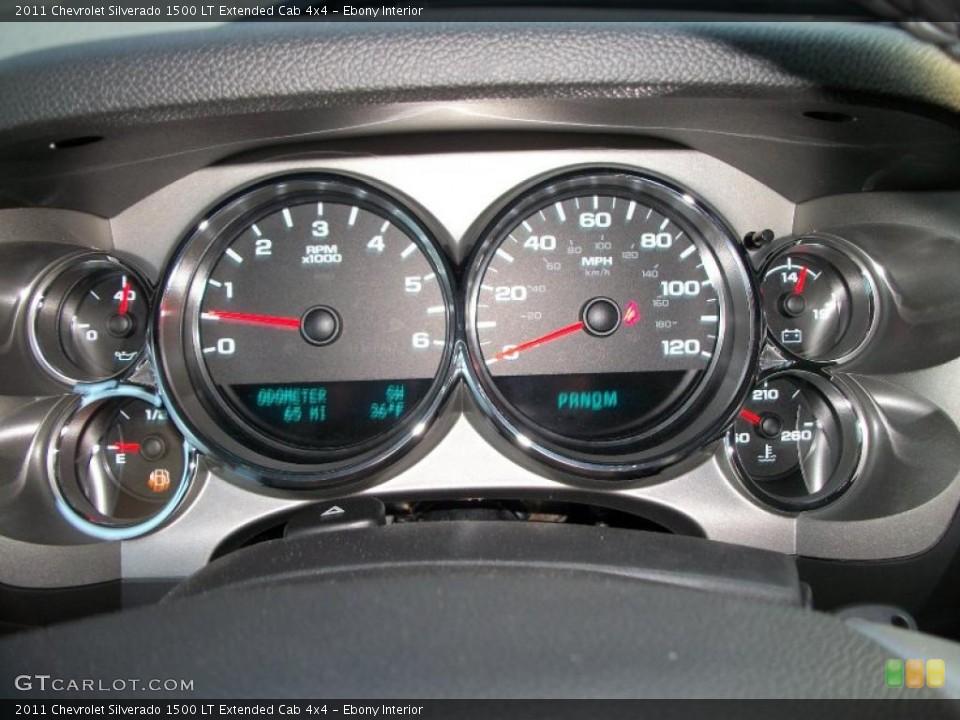 Ebony Interior Gauges for the 2011 Chevrolet Silverado 1500 LT Extended Cab 4x4 #46237190