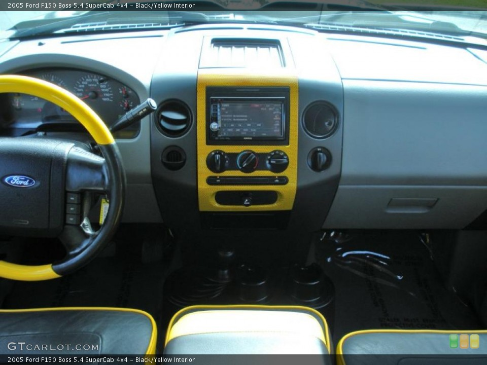 Black/Yellow Interior Dashboard for the 2005 Ford F150 Boss 5.4 SuperCab 4x4 #46287748
