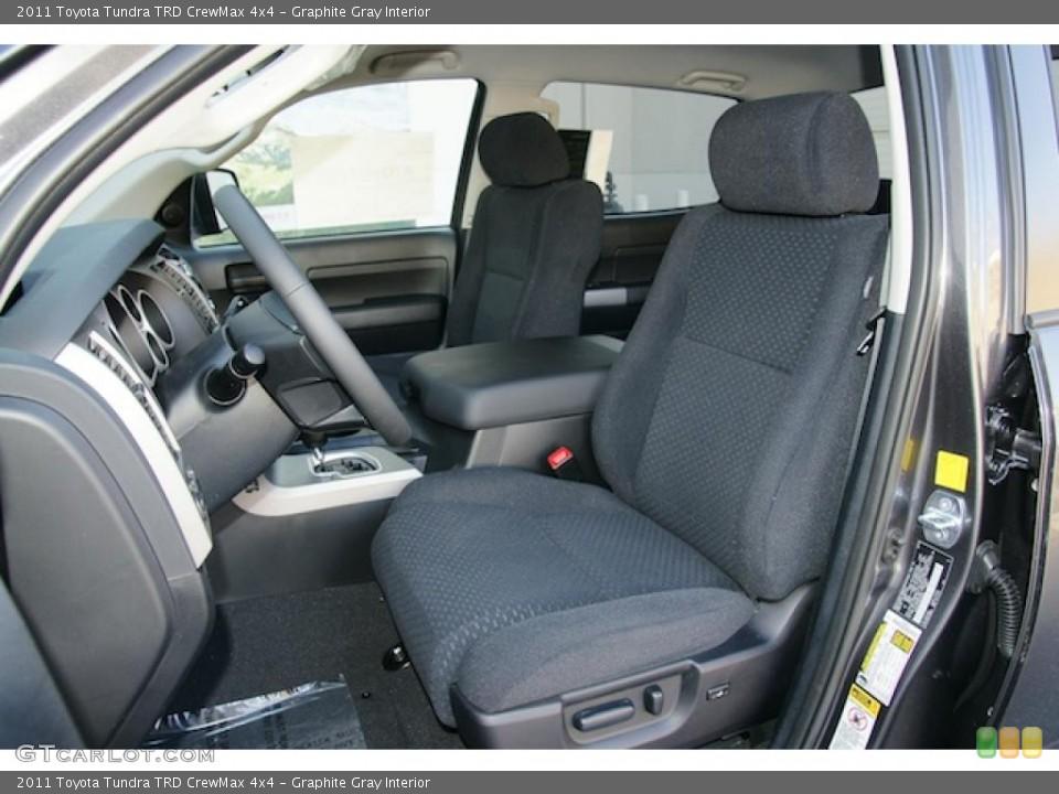 Graphite Gray Interior Photo for the 2011 Toyota Tundra TRD CrewMax 4x4 #46340976