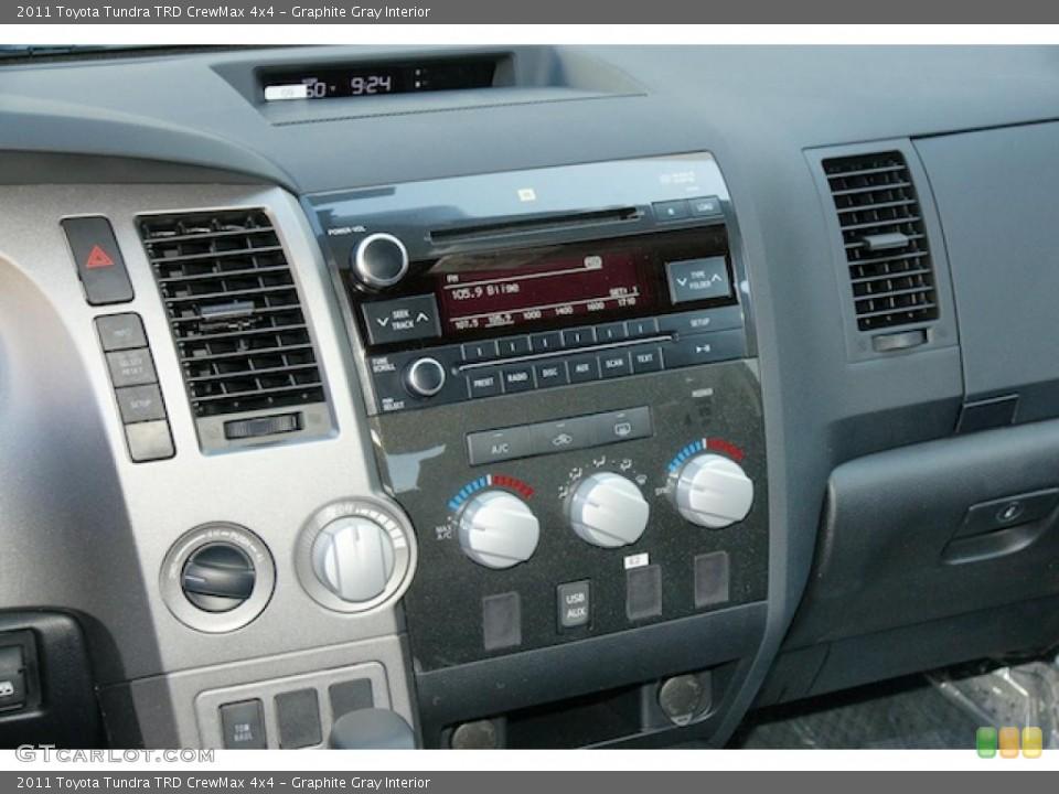 Graphite Gray Interior Controls for the 2011 Toyota Tundra TRD CrewMax 4x4 #46341012