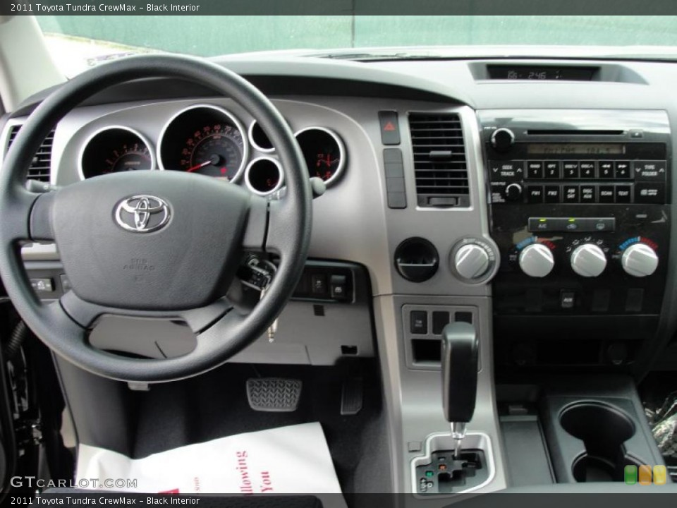 Black Interior Dashboard for the 2011 Toyota Tundra CrewMax #46417632