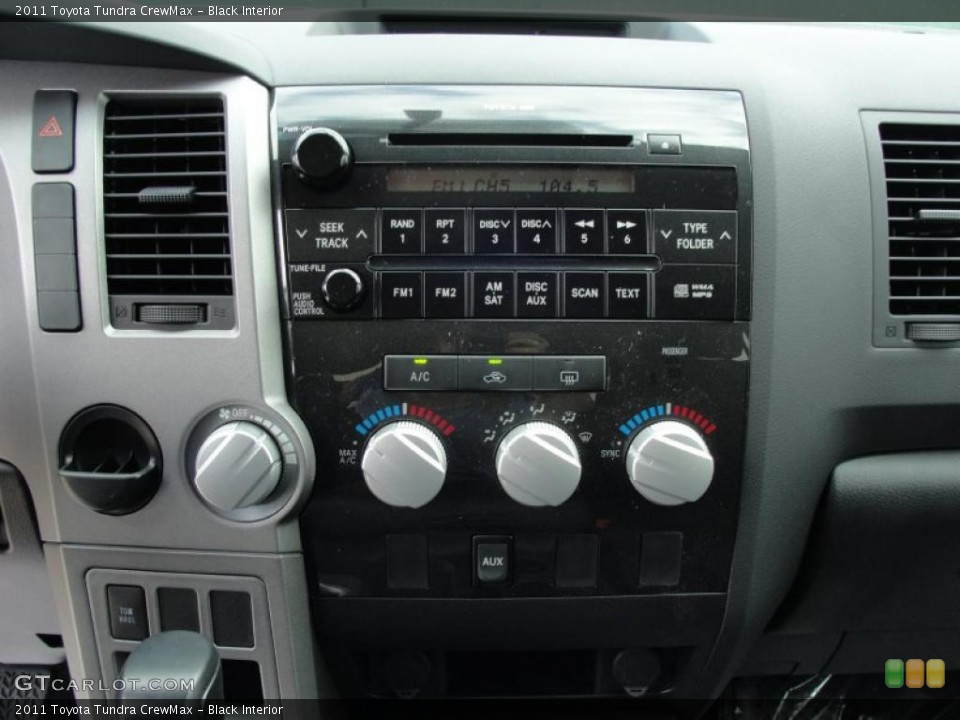 Black Interior Controls for the 2011 Toyota Tundra CrewMax #46417641