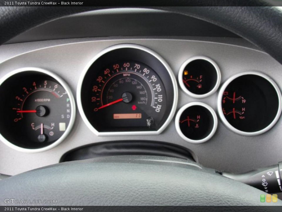 Black Interior Gauges for the 2011 Toyota Tundra CrewMax #46417740