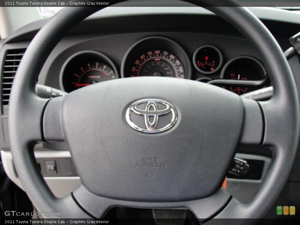 Graphite Gray Interior Steering Wheel for the 2011 Toyota Tundra Double Cab #46419177