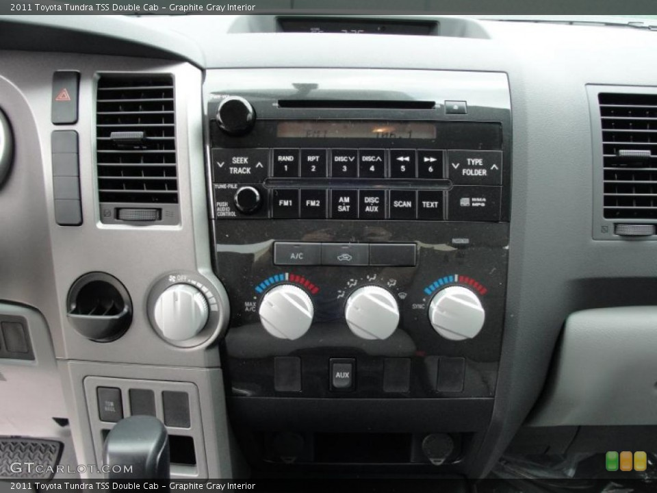 Graphite Gray Interior Controls for the 2011 Toyota Tundra TSS Double Cab #46419681