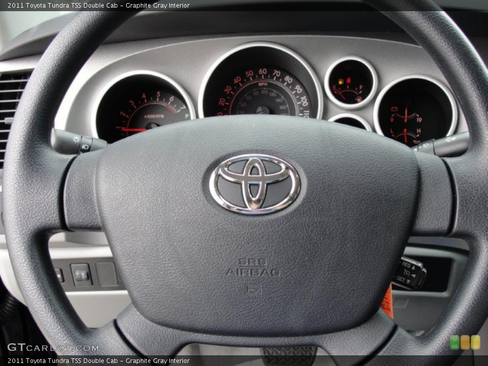 Graphite Gray Interior Steering Wheel for the 2011 Toyota Tundra TSS Double Cab #46419777