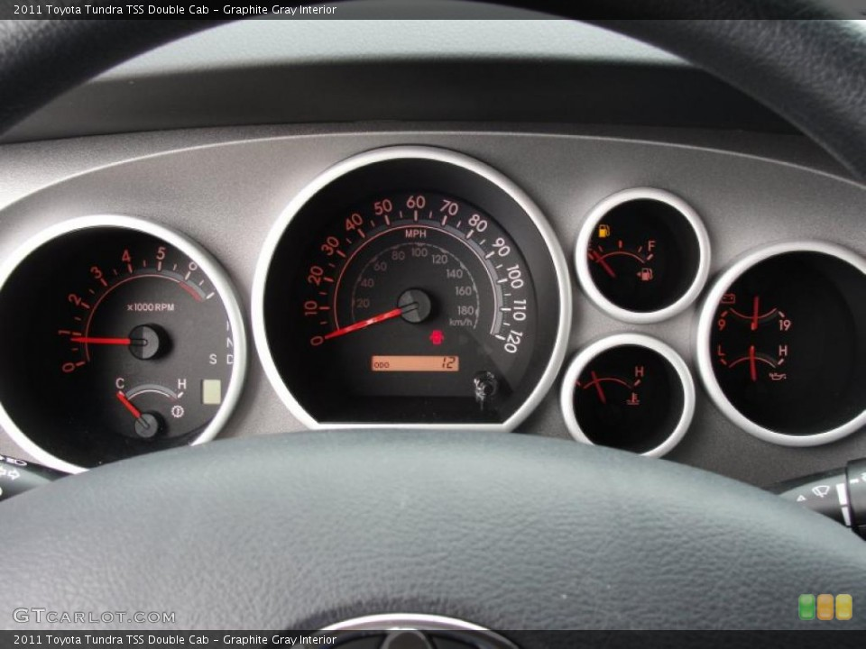 Graphite Gray Interior Gauges for the 2011 Toyota Tundra TSS Double Cab #46419786