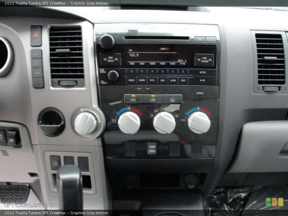 Graphite Gray Interior Controls for the 2011 Toyota Tundra SR5 CrewMax #46420170