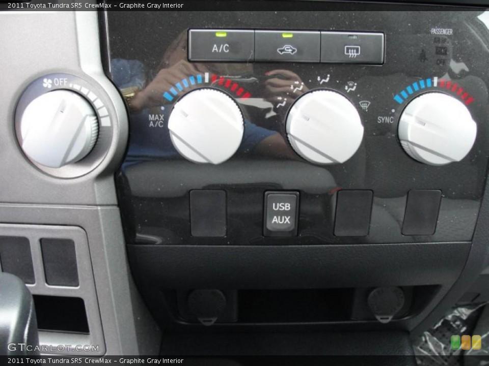 Graphite Gray Interior Controls for the 2011 Toyota Tundra SR5 CrewMax #46420221