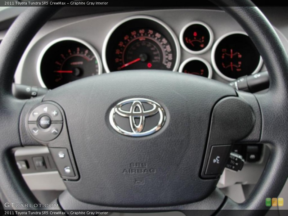 Graphite Gray Interior Steering Wheel for the 2011 Toyota Tundra SR5 CrewMax #46420293