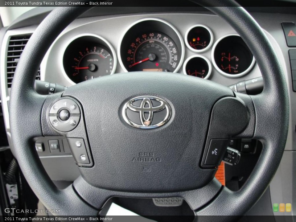 Black Interior Steering Wheel for the 2011 Toyota Tundra Texas Edition CrewMax #46420851