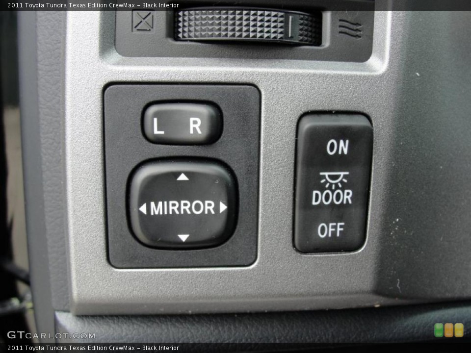 Black Interior Controls for the 2011 Toyota Tundra Texas Edition CrewMax #46420887