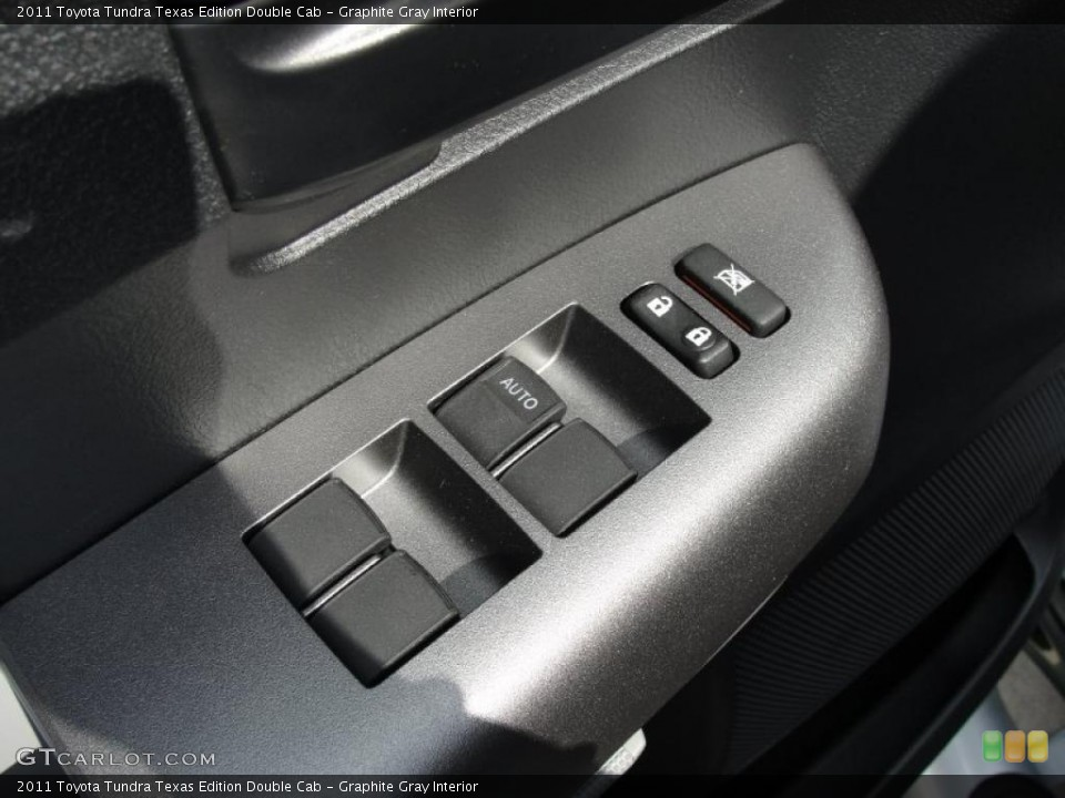 Graphite Gray Interior Controls for the 2011 Toyota Tundra Texas Edition Double Cab #46422237