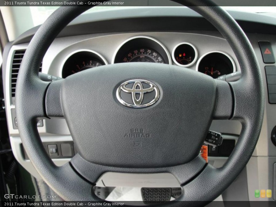 Graphite Gray Interior Steering Wheel for the 2011 Toyota Tundra Texas Edition Double Cab #46422396