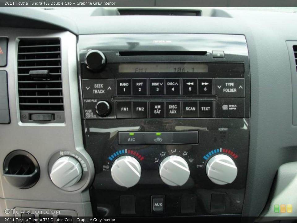 Graphite Gray Interior Controls for the 2011 Toyota Tundra TSS Double Cab #46422828