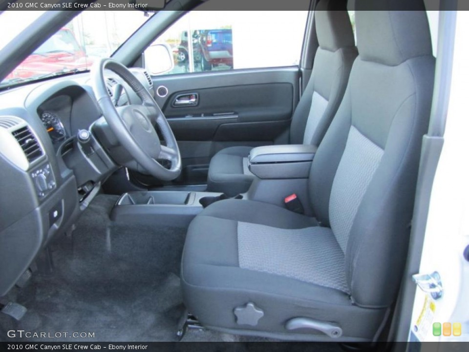 Ebony Interior Photo for the 2010 GMC Canyon SLE Crew Cab #46430244
