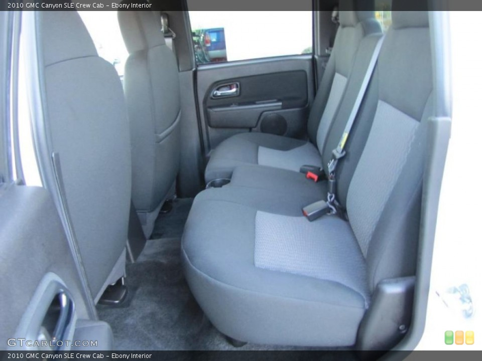 Ebony Interior Photo for the 2010 GMC Canyon SLE Crew Cab #46430289