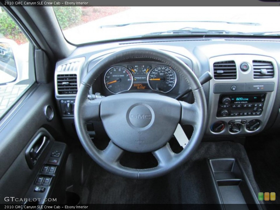 Ebony Interior Dashboard for the 2010 GMC Canyon SLE Crew Cab #46430424