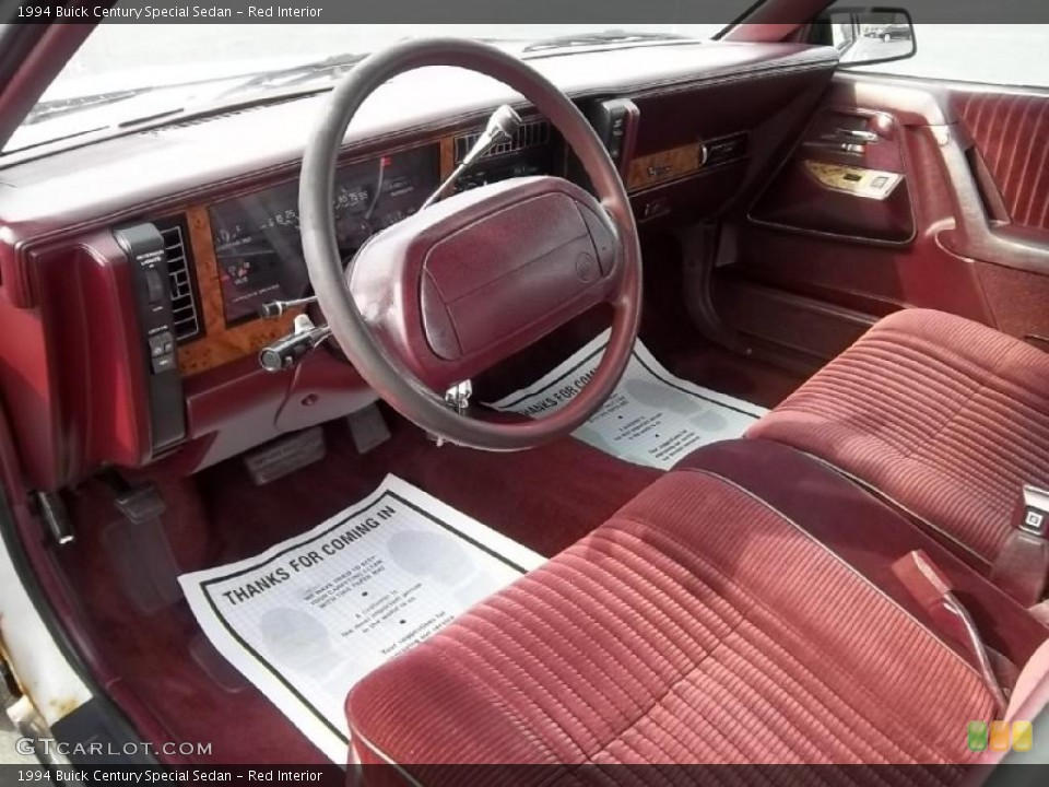 Red Interior Prime Interior For The 1994 Buick Century