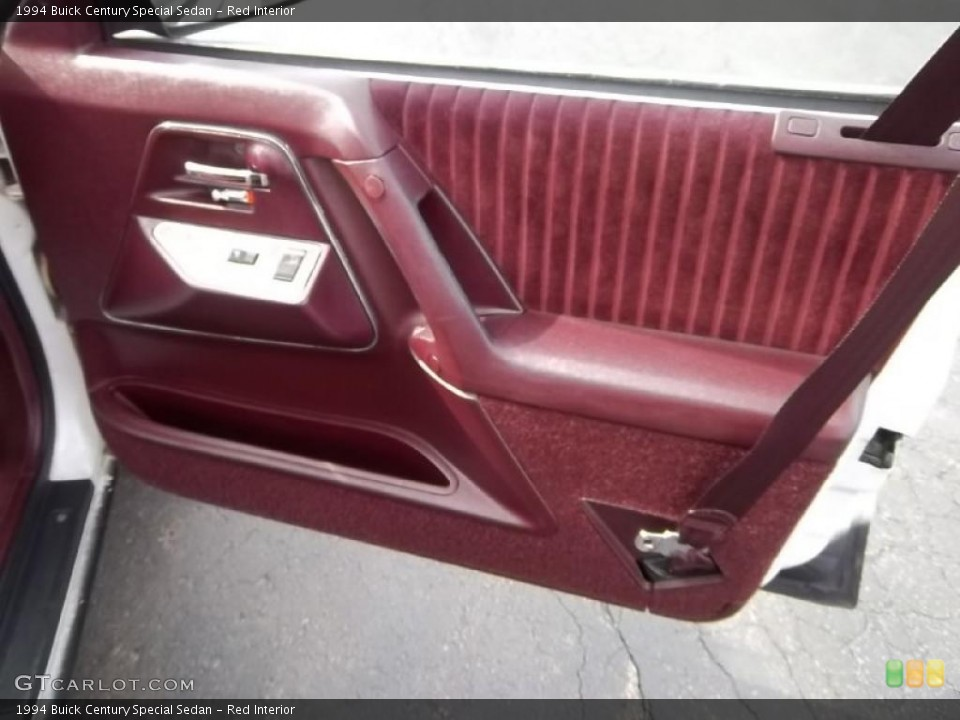 Red Interior Door Panel For The 1994 Buick Century Special