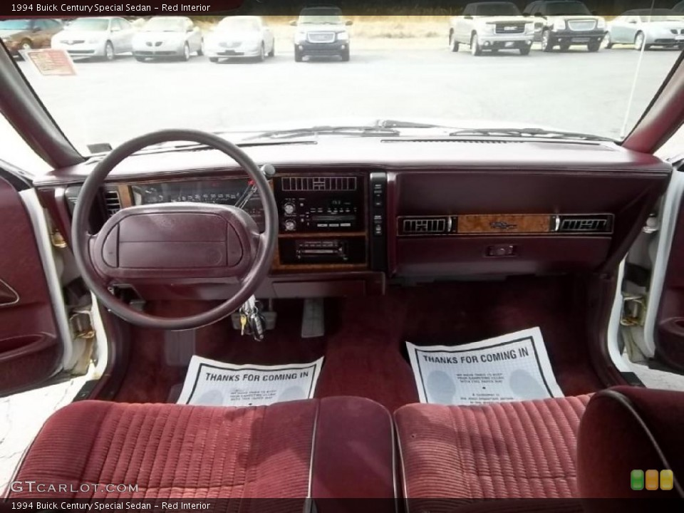 Red Interior Dashboard For The 1994 Buick Century Special