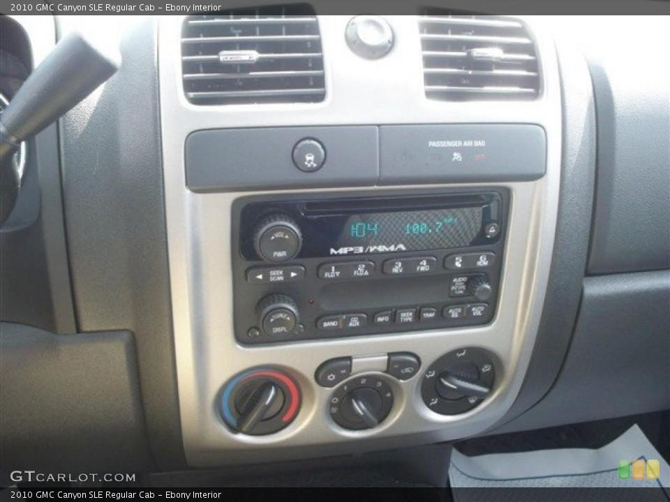 Ebony Interior Controls for the 2010 GMC Canyon SLE Regular Cab #46464180