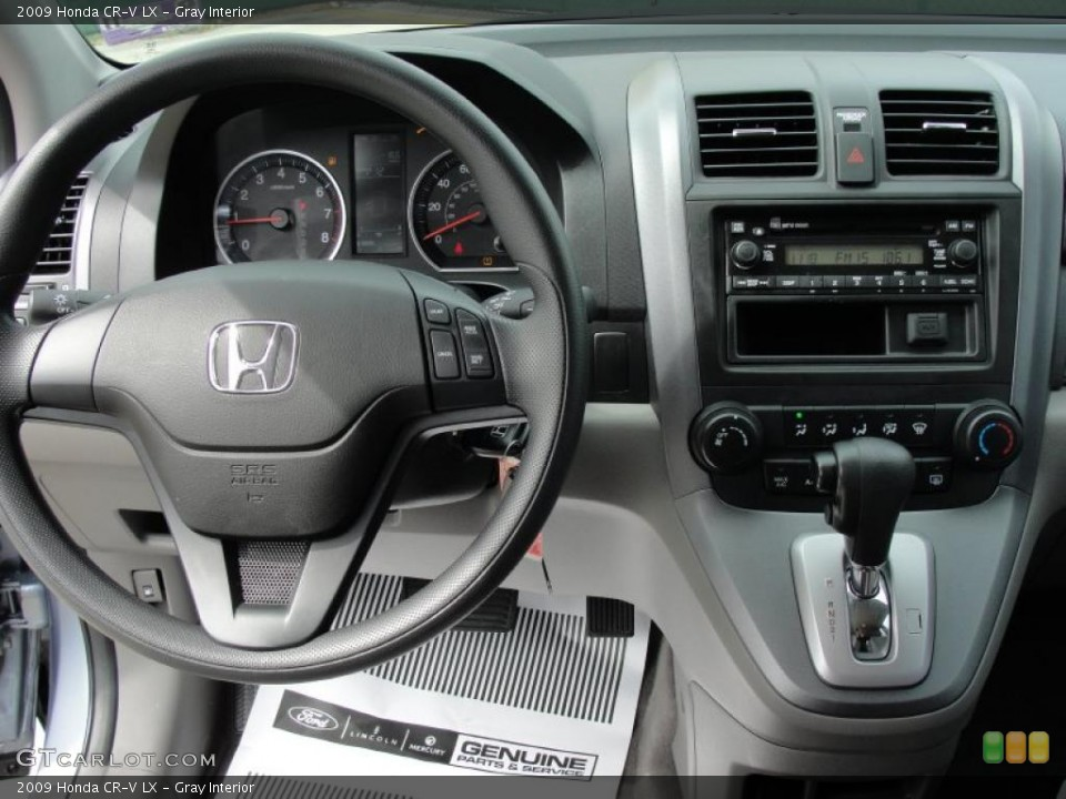 Gray Interior Dashboard for the 2009 Honda CR-V LX #46478352