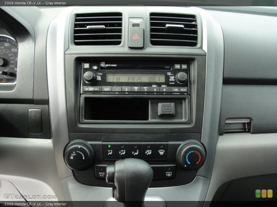 Gray Interior Controls for the 2009 Honda CR-V LX #46478367