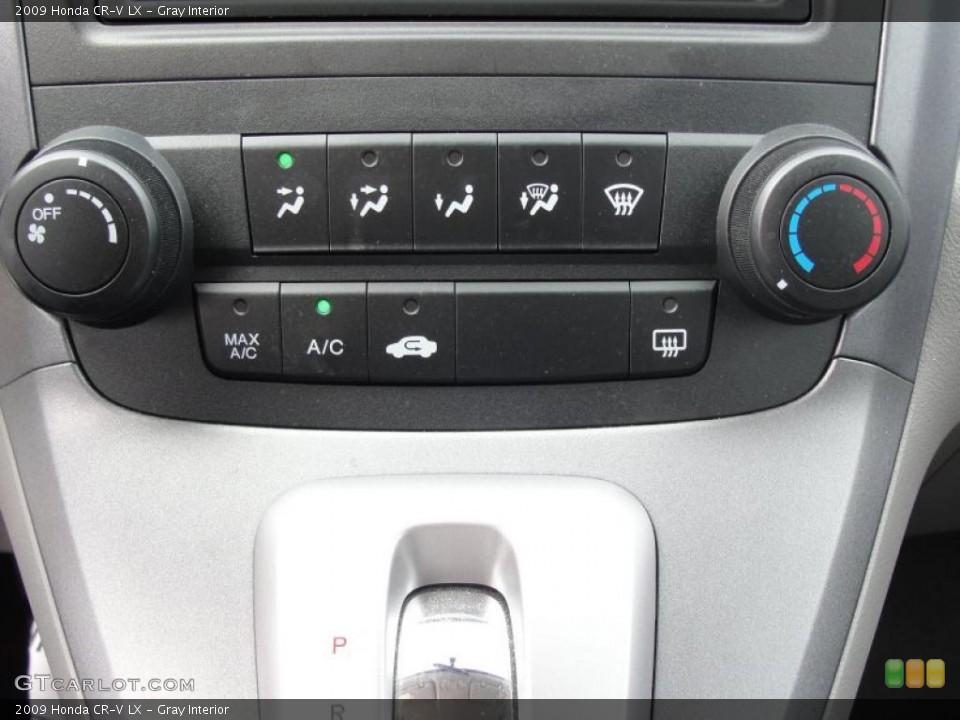 Gray Interior Controls for the 2009 Honda CR-V LX #46478439
